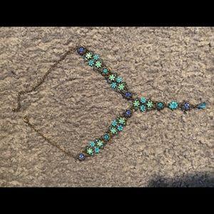 Jewelry - Turquoise pave stone choker